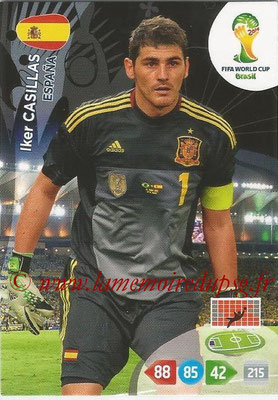 2014 - Panini FIFA World Cup Brazil Adrenalyn XL - N° 143 - Iker CASILLAS (Espagne)
