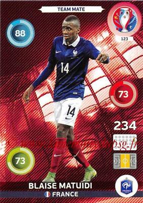Panini Euro 2016 Cards - N° 123 - Blaise MATUIDI (France)