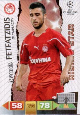 2011-12 - Panini Champions League Cards - N° 188 - Ioannis FETFATZIDIS (Olympiacos) (Rising Star)