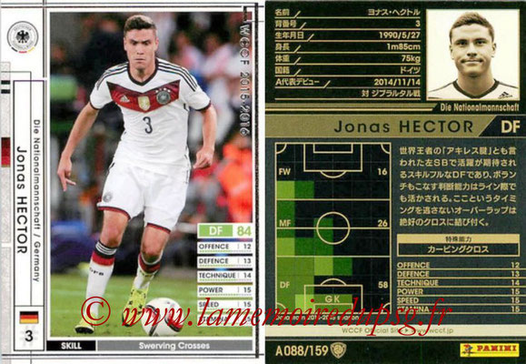 2015-16 - Panini WCCF - N° A088 - Jonas HECTOR (Allemagne)