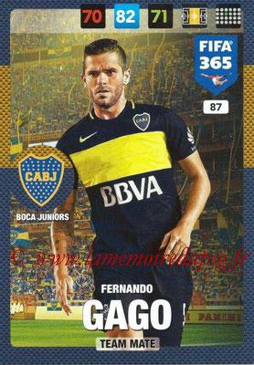 2016-17 - Panini Adrenalyn XL FIFA 365 - N° 087 - Fernando GAGO (CA Boca Junior)