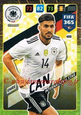 2017-18 - Panini FIFA 365 Cards - N° 400 - Emre CAN (Allemagne) (International Star)