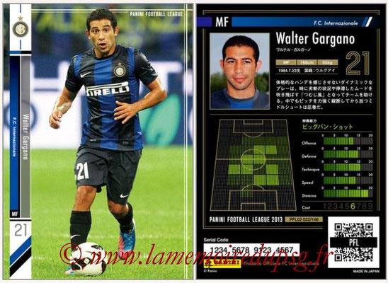 Panini Football League 2013 - PFL02 - N° 022 - Walter Gargano ( F.C. Internazionale )