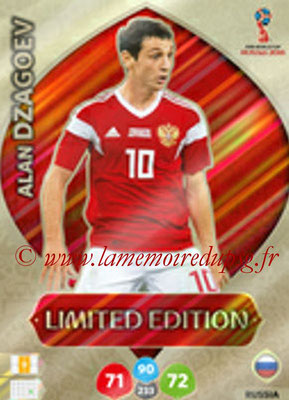 2018 - Panini FIFA World Cup Russia Adrenalyn XL - N° LE-AD - Alan DZAGOEV (Russie) (Limited Edition)