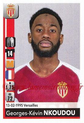2018-19 - Panini Ligue 1 Stickers - N° T20 - Georges-Kévin NKOUDOU (Monaco) (Transfert)