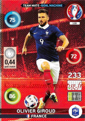 Panini Euro 2016 Cards - N° 128 - Olivier GIROUD (France) (Goal Machine)