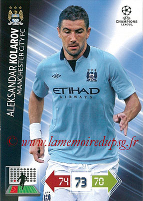 2012-13 - Adrenalyn XL champions League N° 126 - Aleksandar  KOLAROV (Manchester City FC)