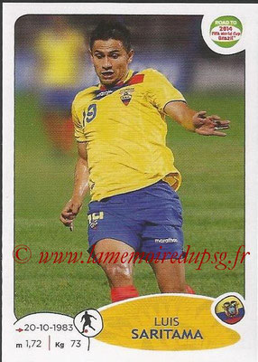 2014 - Panini Road to FIFA World Cup Brazil Stickers - N° 193 - Luis SARITAMA (Equateur)