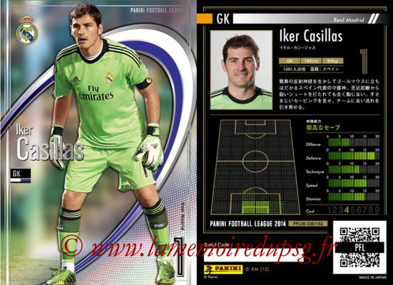 Panini Football League 2014 - PFL06 - N° 036 - Iker CASILLAS (Real Madrid CF) (Star +)
