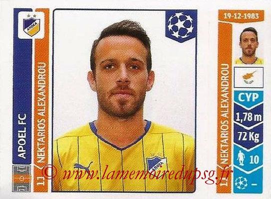 2014-15 - Panini Champions League N° 486 - Nektarios ALEXANDROU (Apoel FC)