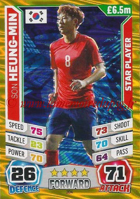 Topps Match Attax England 2014 - N° 204 - Son HEUNG-MIN (Corée) (Star Player)