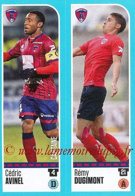 2016-17 - Panini Ligue 1 Stickers - N° 869 + 870 - Cédric AVINEL + Rémy DUGIMONT (Clermont)