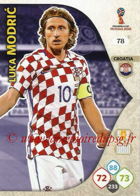 2018 - Panini FIFA World Cup Russia Adrenalyn XL - N° 078 - Luka MODRIC (Croatie)