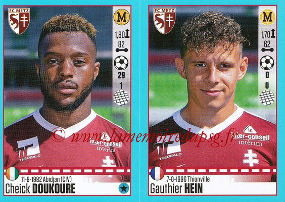 2016-17 - Panini Ligue 1 Stickers - N° 452 + 453 - Cheick DOUKOURE + Gauthier HEIN (Metz)