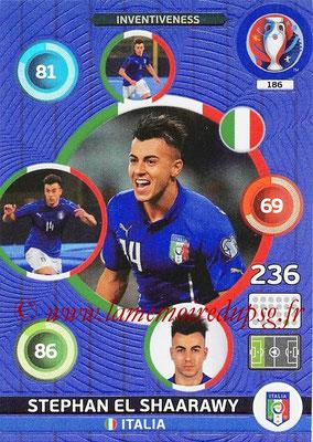 Panini Euro 2016 Cards - N° 186 - Stephan EL SHAARAWY (Italie) (Inventiveness)