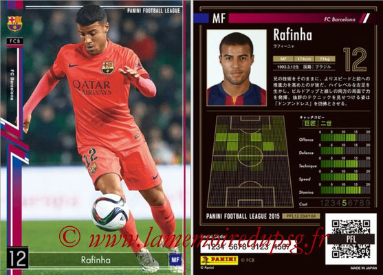 Panini Football League 2015 - PFL12 - N° 034 - RAFINHA (FC Barcelone)