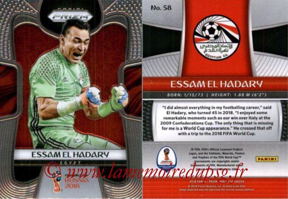2018 - Panini Prizm FIFA World Cup Russia - N° 058 - Essam EL HADARY (Egypte)