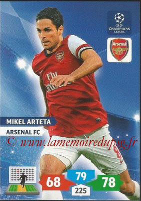 2013-14 - Adrenalyn XL champions League N° 049 - Mikel ARTETA (Arsenal FC)