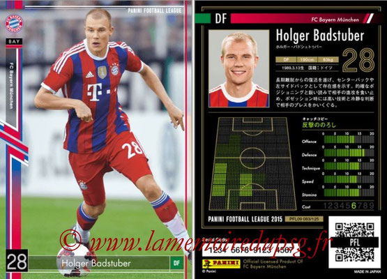 Panini Football League 2015 - PFL09 - N° 083 - Holger BADSTUBER (Bayern Munich)