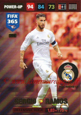 2016-17 - Panini Adrenalyn XL FIFA 365 - N° 354 - Sergio RAMOS (Real Madrid CF) (Defensive Rock)