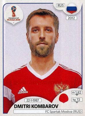 2018 - Panini FIFA World Cup Russia Stickers - N° 040 - Dmitri KOMBAROV (Russie)