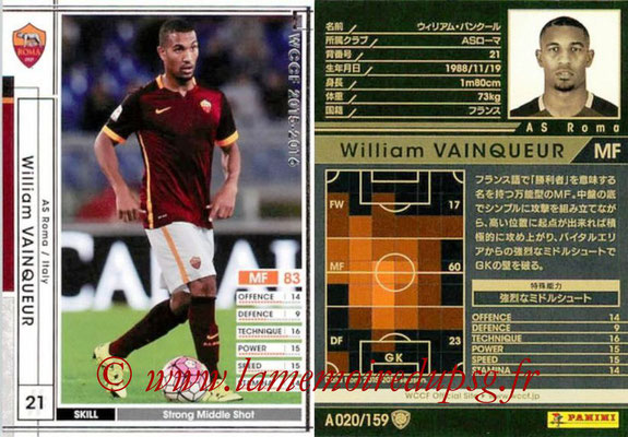 2015-16 - Panini WCCF - N° A020 - William VAINQUEUR (AS Roma)