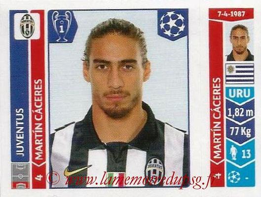 2014-15 - Panini Champions League N° 068 - Martin CACERES (Juventus Turin)
