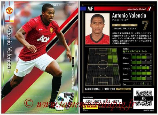 Panini Football League 2013 - PFL02 - N° 061 - Antonio Valencia ( Manchester United  )
