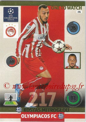 2014-15 - Adrenalyn XL champions League N° 196 - Kostas MITROGLOU (Olympiacos FC) (One to watch)