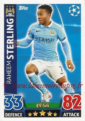 2015-16 - Topps UEFA Champions League Match Attax - N° 051 - Raheem STERLING (Manchester City FC)