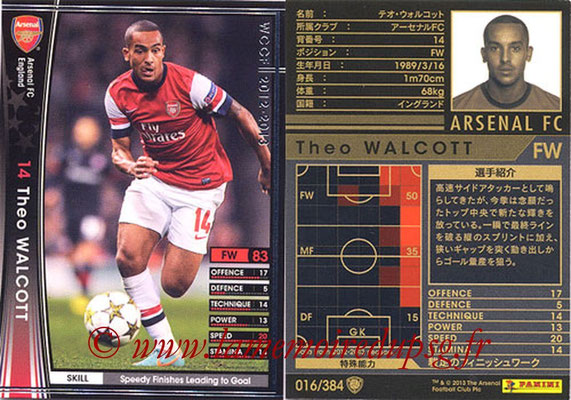 2012-13 - WCCF - N° 016 - Theo WALCOTT (Arsenal FC)