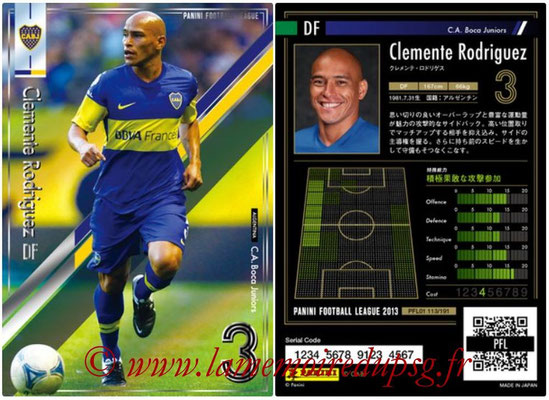 Panini Football League 2013 - PFL01 - N° 113 - Clemente Rodriguez ( C.A. Boca Juniors )