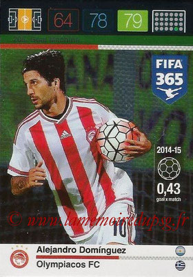 2015-16 - Panini Adrenalyn XL FIFA 365 - N° 205 - Alejandro DOMINGUEZ (Olympiacos FC) (Goal Machine)