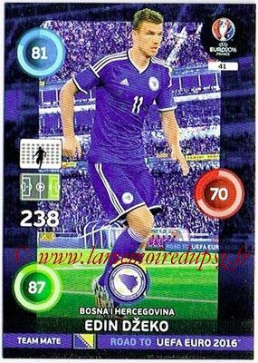 Panini Road to Euro 2016 Cards - N° 041 - Edin DZEKO (Bosnie Herzegovine)