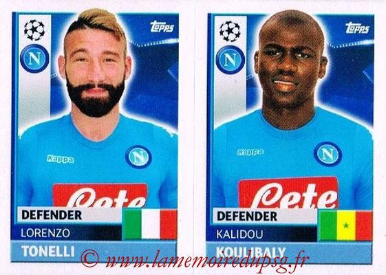 2016-17 - Topps UEFA Champions League Stickers - N° NAP 8-9 - Kalidou KOULIBALY + Lorenzo TONELLI (SSC Naples)