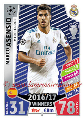 2017-18 - Topps UEFA Champions League Match Attax - N° 008 - Marco ASENSIO (Real Madrid CF)