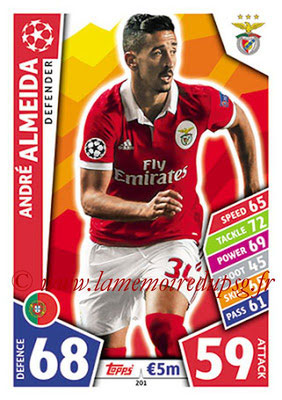 2017-18 - Topps UEFA Champions League Match Attax - N° 201 - André ALMEIDA (SL Benfica)