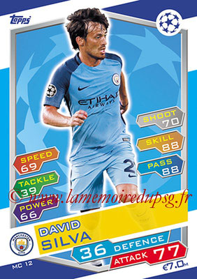 2016-17 - Topps UEFA Champions League Match Attax - N° MC12 - David SILVA (Manchester City FC)