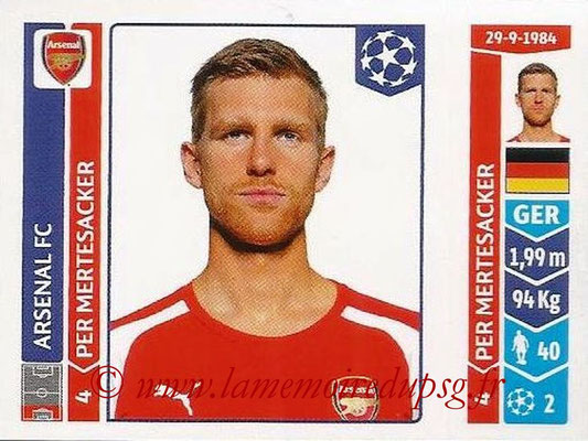 2014-15 - Panini Champions League N° 255 - Per MERTESACKER (Arsenal FC)