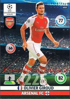 2014-15 - Adrenalyn XL champions League Update edition N° UE019 - Olivier GIROUD (Arsenal)