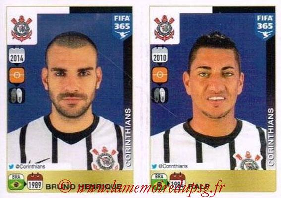 2015-16 - Panini FIFA 365 Stickers - N° 170-171 - Bruno HENRIQUE + RALF (SC Corinthians)