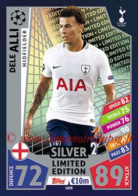 2017-18 - Topps UEFA Champions League Match Attax - N° LE2S - Dele ALLI (Tottenham Hotspur) (Limited Edition Silver)