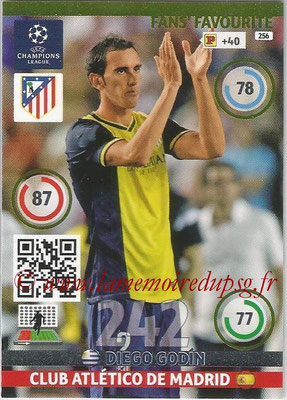2014-15 - Adrenalyn XL champions League N° 256 - Diego GODIN (Clus Atletico de Madrid) ( Fans' Favourite)