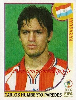 2002 - Panini FIFA World Cup Stickers - N° 142 - Carlos Humberto PAREDES (Paraguay)