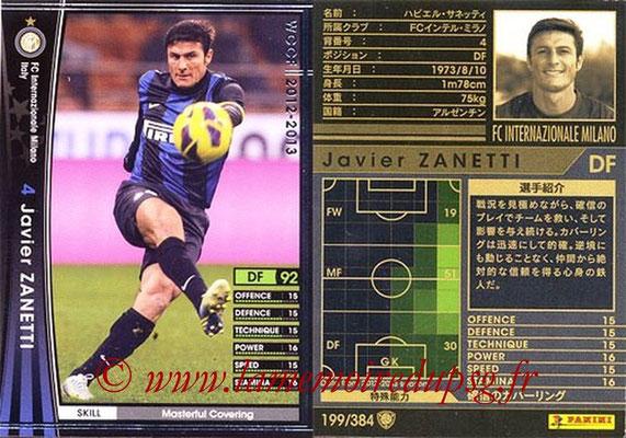 2012-13 - WCCF - N° 199 - Javier ZANETTI (Inter Milan)