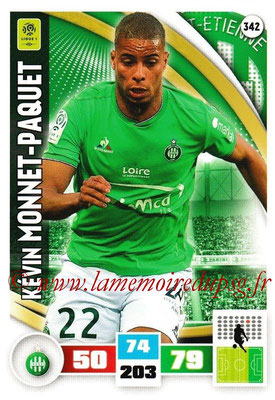 2016-17 - Panini Adrenalyn XL Ligue 1 - N° 342 - Kévin MONNET-PAQUET (Saint-Etienne)