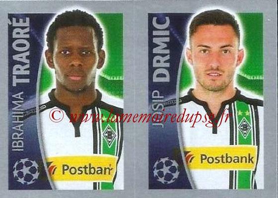 2015-16 - Topps UEFA Champions League Stickers - N° 292 - Ibrahima TRAORÉ + Josip DRMIC (VfL Borussia Mönchengladbach)