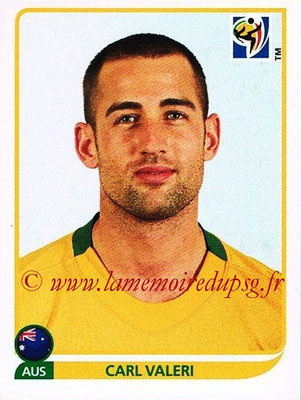 2010 - Panini FIFA World Cup South Africa Stickers - N° 287 - Carl VALERI (Australie)