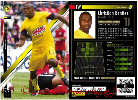 Panini Football League 2013 - PFL01 - N° 176 - Christian Benitez ( Club America )
