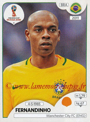 2018 - Panini FIFA World Cup Russia Stickers - N° 363 - FERNANDINHO (Bresil)